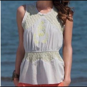Anthropologie - HD in Paris Embroidered Peplum Top